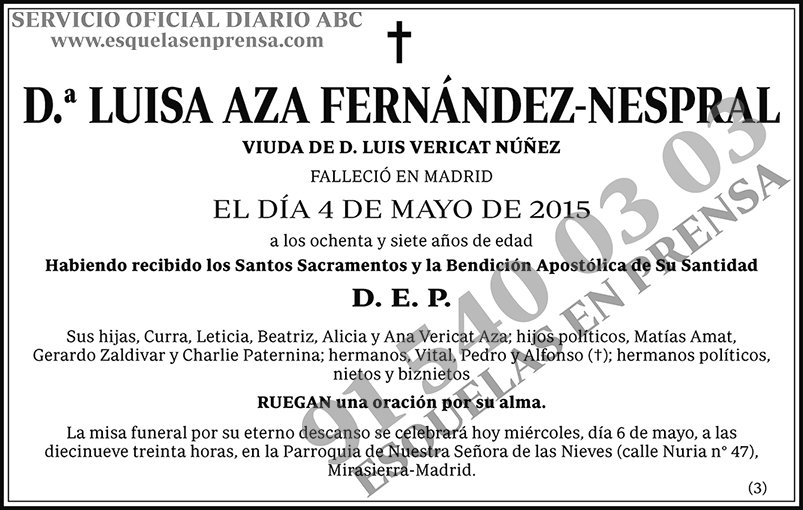 Luisa Aza Fernández-Nespral